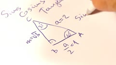 Sinus Cosinus Tangent Basic Geometrical Formulas 02 macro Stock Footage