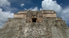 Uxmal, (Pyramid of the Magician) Stock Footage