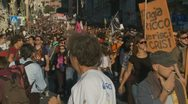 Stock Video Footage of Protest March 3 in Rome Oct 15 2011
