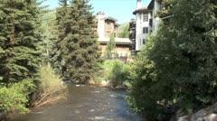 WorldClips-Gore Creek Condos-ws - stock footage