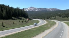 WorldClips-I-70 Through Rockies-ws-zooms - stock footage