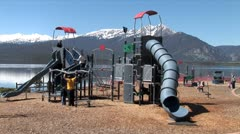 WorldClips-Lakeside Playground-zooms Stock Footage