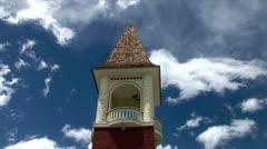 WorldClips-Leadville Church Steeple-tilts Stock Footage