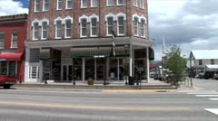 WorldClips-Leadville Main Street-ws-pan Stock Footage