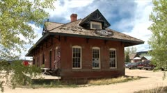 WorldClips-Leadville Rail Station-zoom Stock Footage