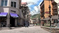 WorldClips-Lionshead Arched Walkway-Segways Stock Footage