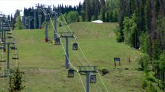 WorldClips-Lionshead Ski Lift-xws Stock Footage
