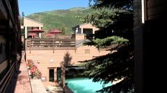 WorldClips-Mountain Resort Pool Stock Footage
