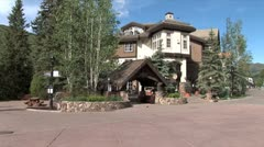 WorldClips-Vail Entrance Bridge-ws-zoom Stock Footage
