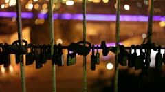 Love Locks - stock footage