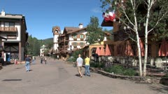 WorldClips-Vail Main Walkway-ws-zooms Stock Footage