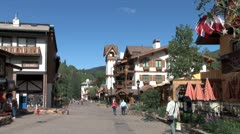 WorldClips-Vail Main Walkway Stock Footage