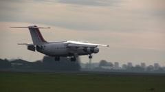 Cityjet landing  Stock Footage