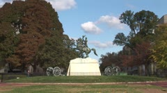 WorldClips-Jackson Statue-ws Stock Footage
