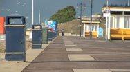 Line of Litter Bins on Promenade Stock Footage