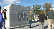 WorldClips-WWII Memorial Visitors Stock Footage