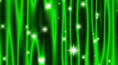 Star Curtain Emerald Green Loop Stock Footage