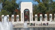 WorldClips-WWII Memorial-zoom Stock Footage