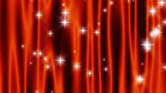 Star Curtain Orange Loop Stock Footage