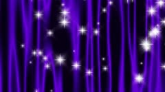 Star Curtain Purple Loop Stock Footage