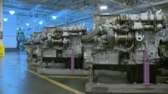 Diesel engines 6.mp4 Stock Footage