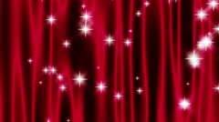 Star Curtain Burgundy Loop Stock Footage