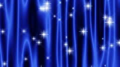 Star Curtain Blue Loop Stock Footage