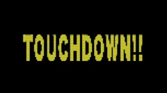 "Old Fashioned scoreboard american football  ""touchdown"" with alpha matte Stock Footage"
