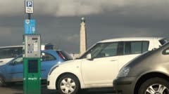 Car Parking at Southsea Stock Footage