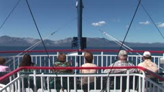 WorldClips-Bow Passengers-MS Dixie Stock Footage