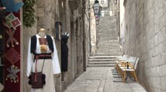 Alleyway in Old Dubrovnik - stock footage