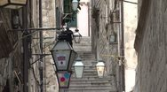 Stock Video Footage of Alleyway in Old Dubrovnik