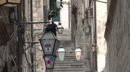 Alleyway in Old Dubrovnik Stock Footage