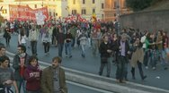 Stock Video Footage of Demo (3) around Collosseum in Rome