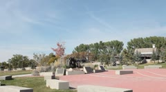 This is the Place Heritage Park pan P HD 0540 Stock Footage