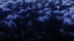Cloudy City Stock Footage