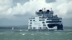Stock Video Footage of Isle of Wight Ferry
