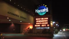 WorldClips-Harrahs Hotel-NIght Stock Footage