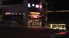 WorldClips-Harveys Entrance-Night-zoom Stock Footage