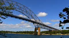 Cape Cod Canal; Bourne bridge - stock footage