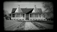 Ranch House Brigham Young mansion BW P HD 0530.mp4 Stock Footage