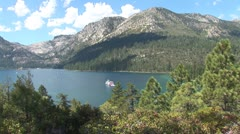 WorldClips-MS Dixie in Emerald Bay-ws Stock Footage