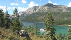 WorldClips-MS DIxie in Emerald Bay-xws Stock Footage