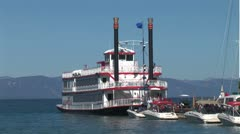 WorldClips-MS Dixie in Port-zoom Stock Footage