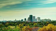 Stock Video Footage of HDR  Time Lapse of a City Skyline; Rochester, NY