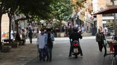 Ben Yehuda Street Jerusalem Israel Stock Footage