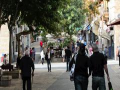 Ben Yehuda Street Jerusalem Israel 02 Stock Footage