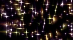 Multi-Colored Stars Field Effects Stock Footage
