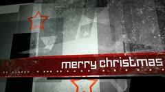 Merry Christmas Grungy Background Loop Stock Footage
