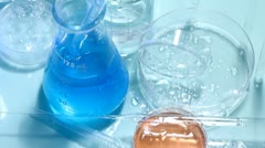 Laboratory glass Stock Footage